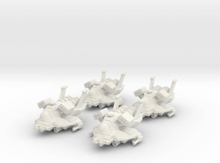 4x Colonial Heavy Raptor 1/270 3d printed