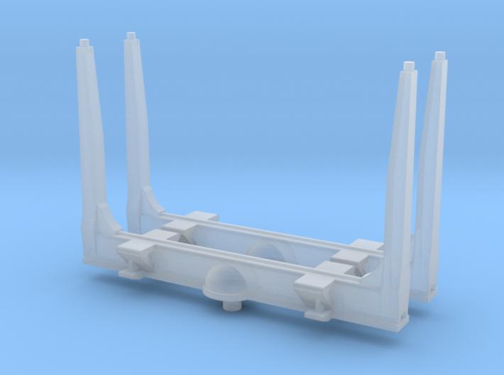 1/64th S scale log bunk set of 2, gun barrel type 3d printed