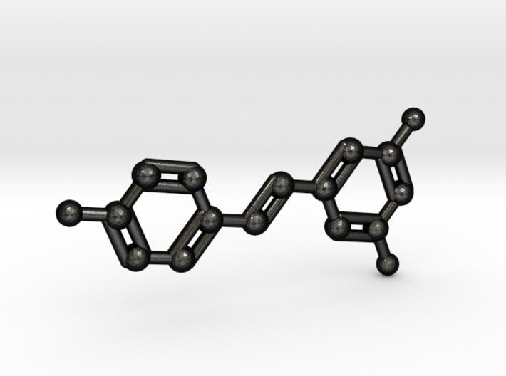 Resveratrol (Red Wine) Molecule Keychain 3d printed