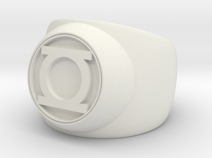 Green Lantern Ring- Size 5 3d printed