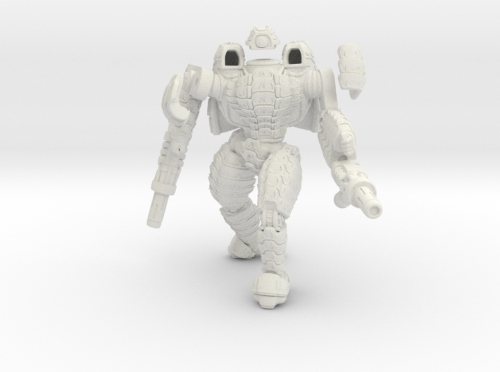 Mech suit with twin weapons. (5) 3d printed