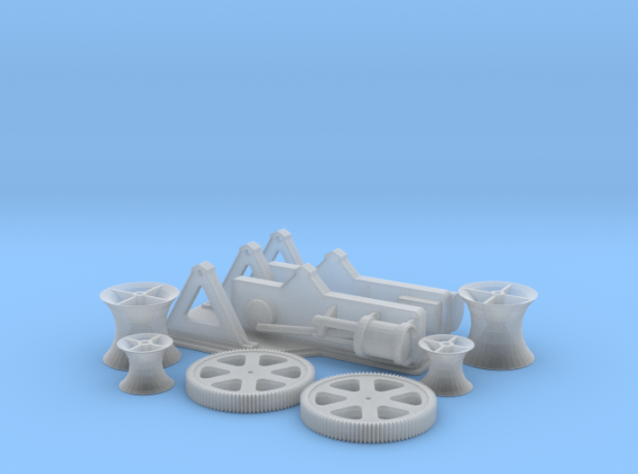 Steam Winches 1-72 3d printed