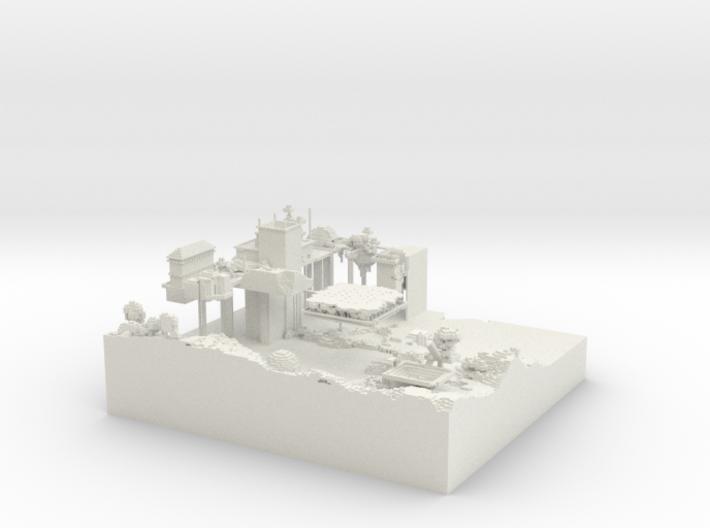 Main Server Base 3d printed