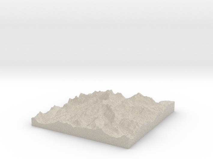 Model of Ives Peak 3d printed