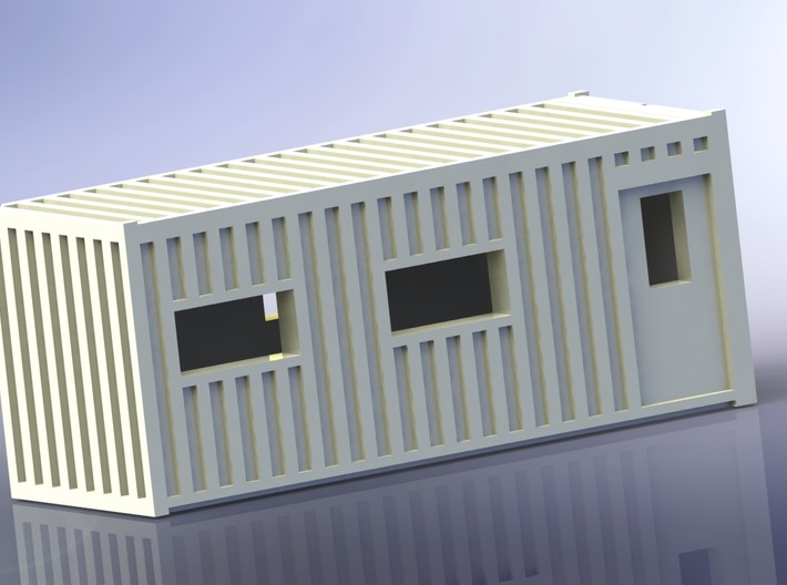 Construction Site Trucks 1 Z-Scale 1/220 3d printed Office-Container
