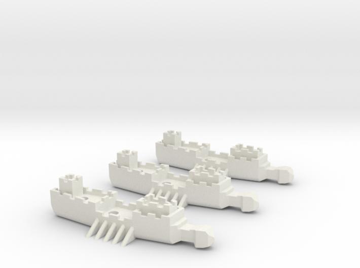 Fantasy Fleet Frigates 3d printed