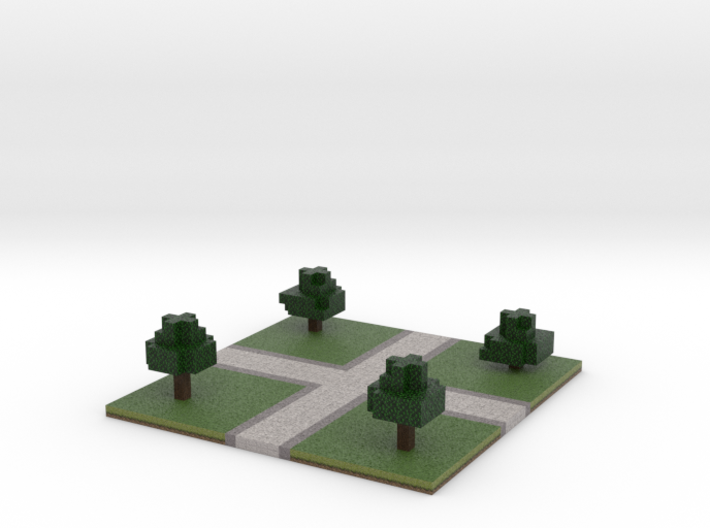 60x60 cross path (trees) (2mm series) 3d printed