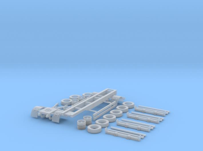 1/87 2a Kurzholzanhänger Typ A131 mit 4xRungenbaus 3d printed