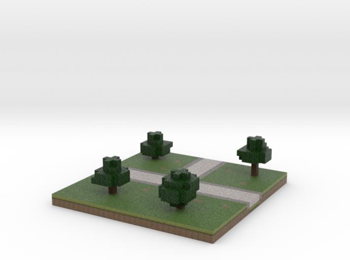 30x30 T path (trees) (1mm series) 3d printed