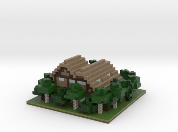 60x60 House02 (mix trees) (2mm series) 3d printed