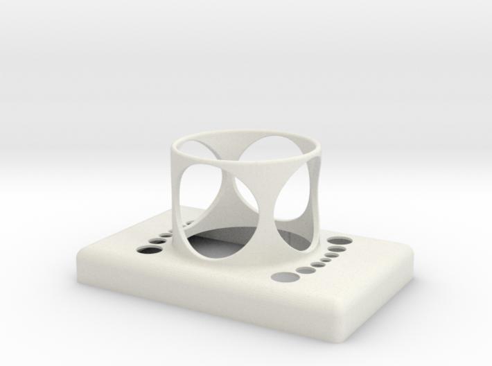 Stop Button Shroud LaspilC 3d printed