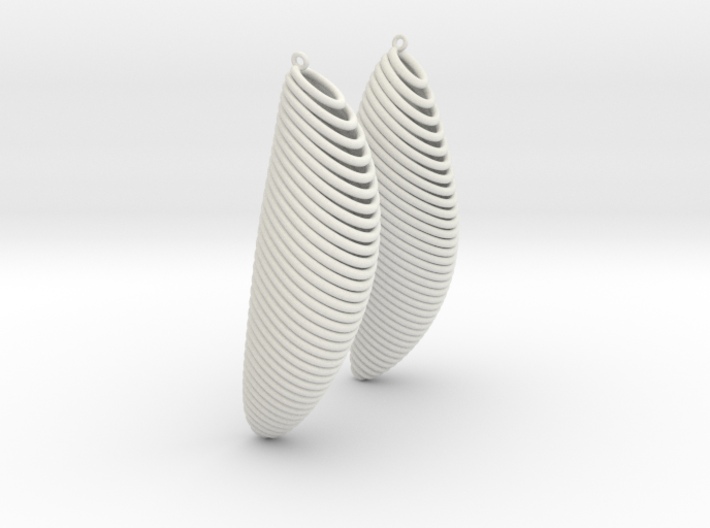 Earing Organic 02 3d printed