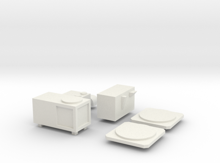 US102 - Airco Rooftop Parts set (H0) 3d printed