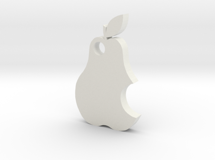 Pear keychain 3d printed
