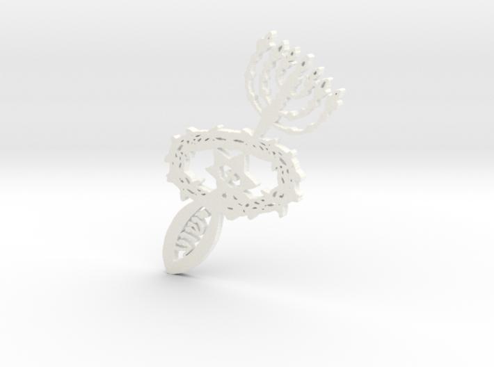 Hebrew-Christian pendant 3d printed