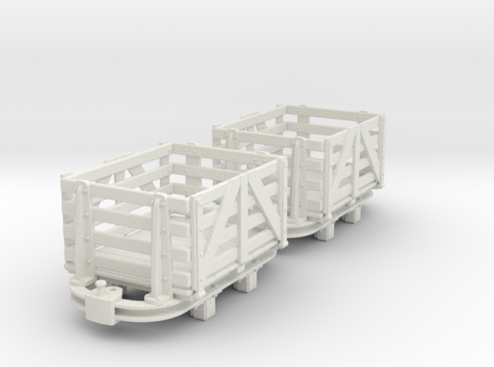 O9 skip with slat sided box body 3d printed