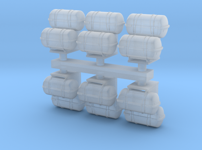 1:96 scale Life Boat Canister Stacked in set of 6 3d printed