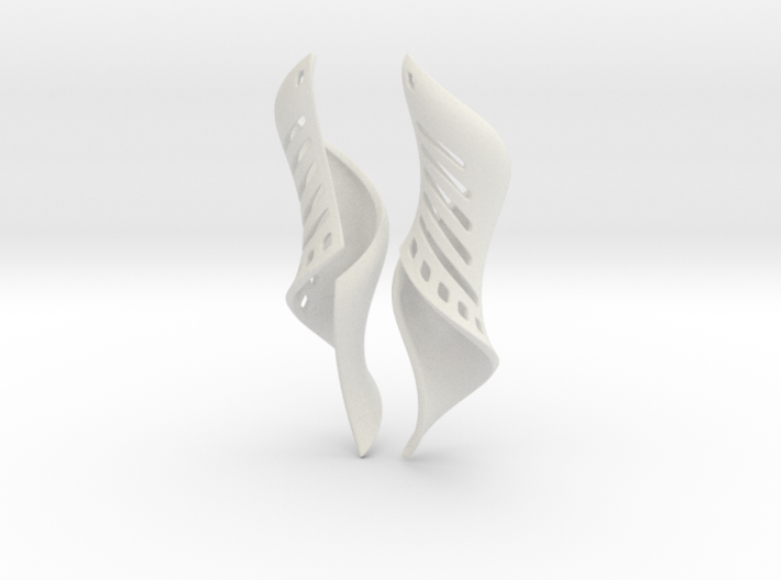 March Earrings Pair. 3d printed