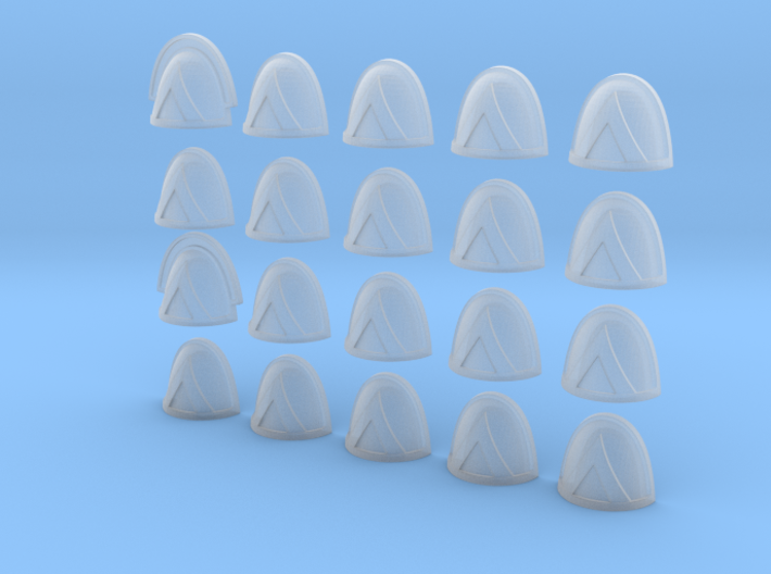 20 28mm Shoulder Pad Squad Marking Triangle 3d printed