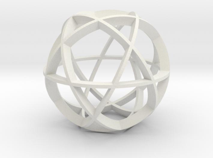 Icosidodecahedron (narrow) 3d printed