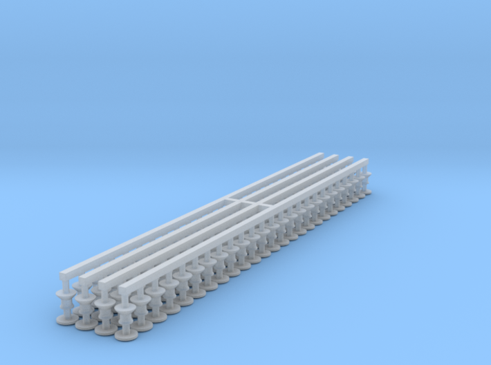 N Scale Gresley Buffer (Unclipped) Pack of 100 3d printed