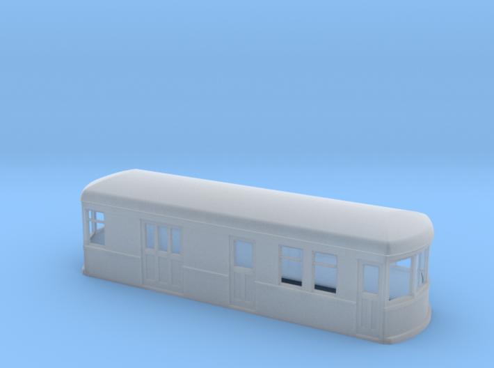 N gauge short trolley RPO 3d printed