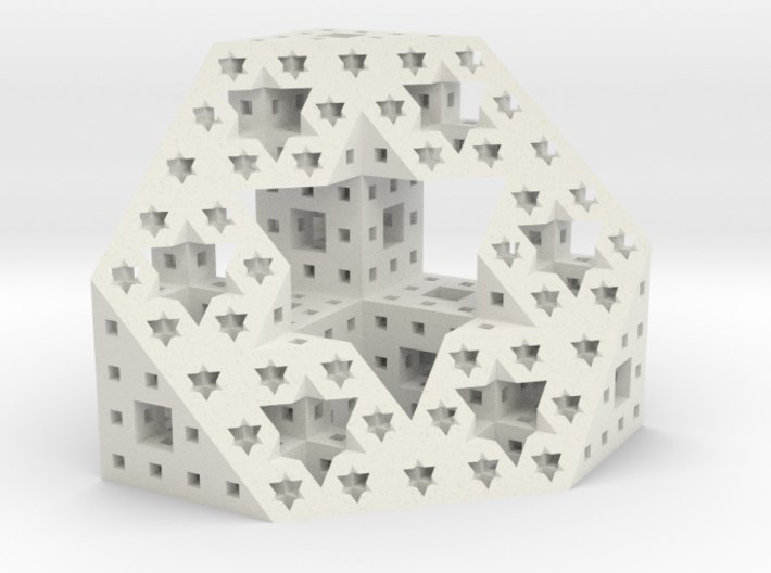 Starry cut of the Menger Sponge 3d printed
