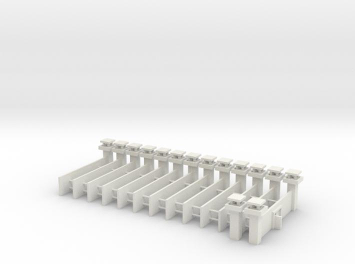1/700 Prison Camp Wall Set (x14) 3d printed
