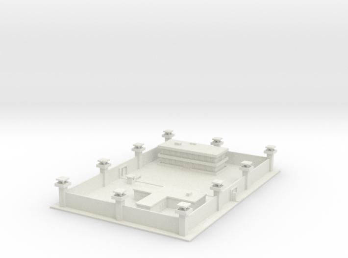 1/700 Prison Barracks and Admin 3d printed