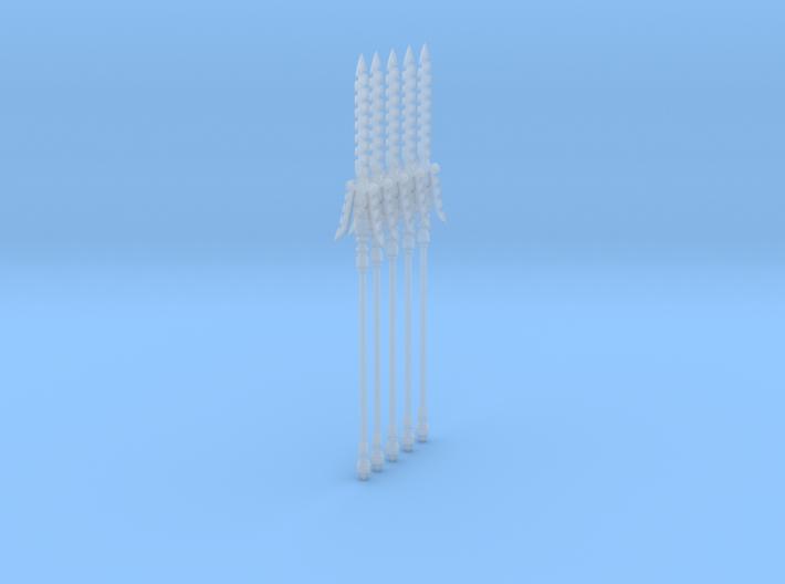 Spear 004a (x5) 3d printed