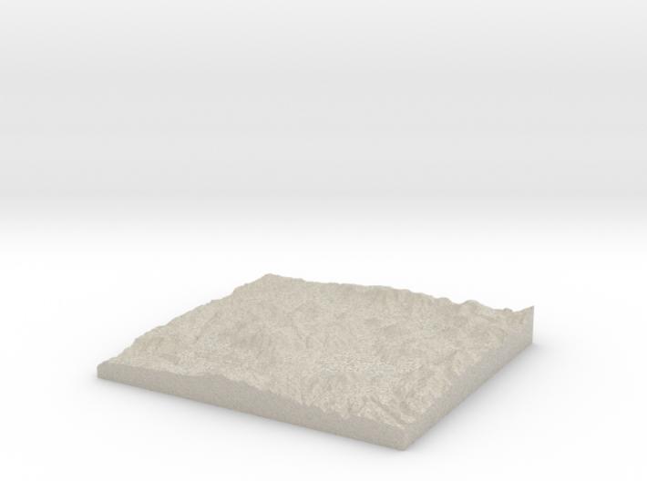 Model of Valles Caldera 3d printed