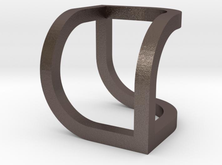 Swirled Cube Pendant 3d printed