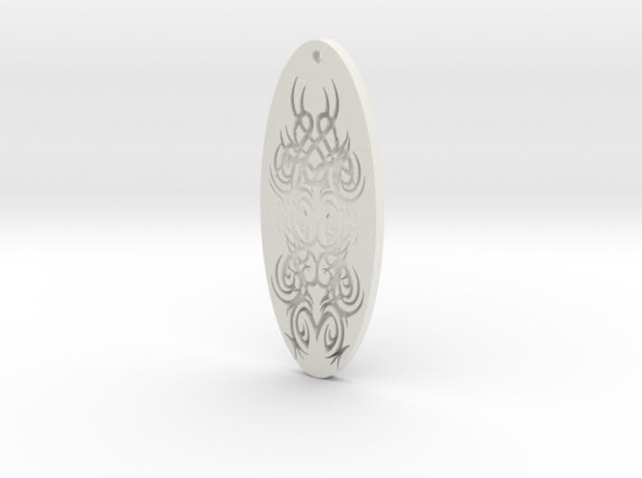 WhiteHawk Tribal Pendant 4 3d printed