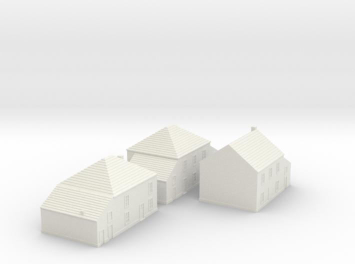 1/350 Village Houses 3 3d printed