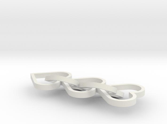 Heart Earings 3d printed