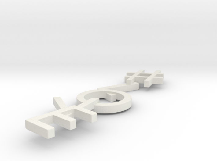 #Hashtag-Earrings - #Love (Single) 3d printed