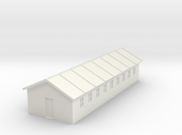 1/350 Barracks 1 3d printed