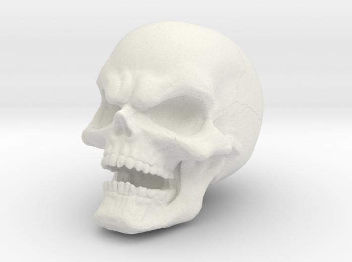 1 Inch Evil Skull 3d printed