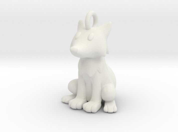 Fox Keychain 3d printed