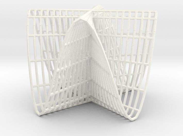 Pluecker's conoid k=4 3d printed