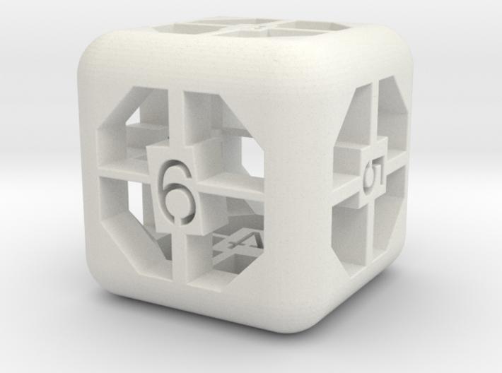 simple d6 3d printed