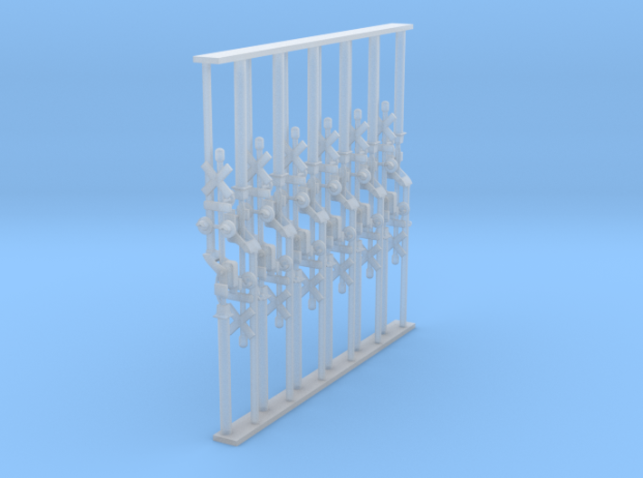 Crossing Gate set of 12 - N Scale 3d printed