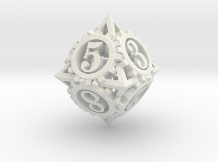 Steampunk Gear d8 3d printed