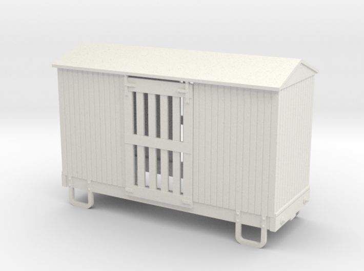 55n9 13ft 4 wheeled ventilated box car - peaked ro 3d printed