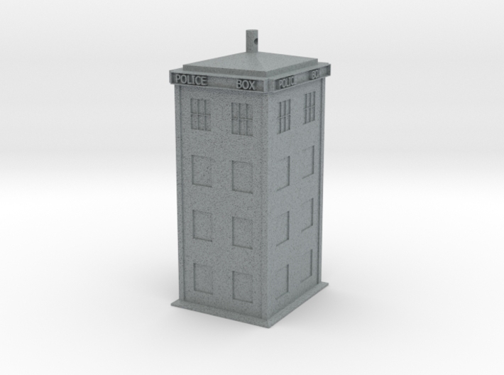 Police Box Earring - no post/hook 3d printed