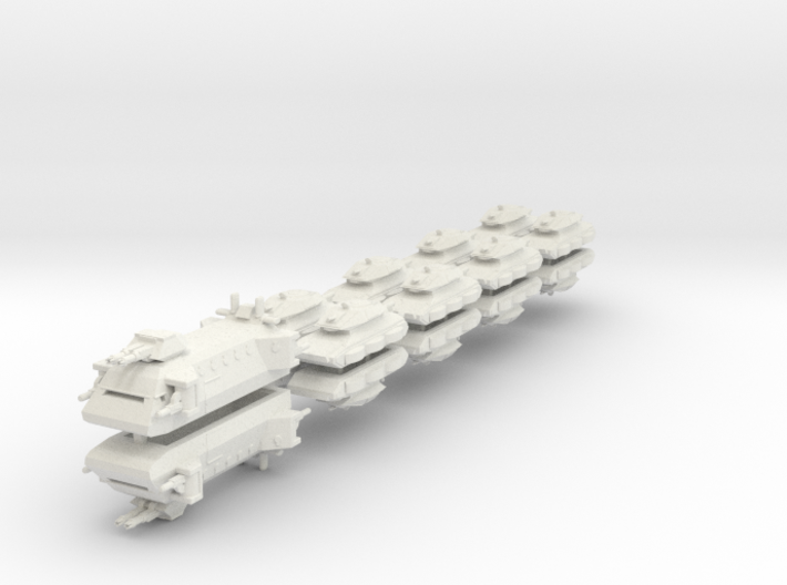 US Ground Support Fleet (18 Ships) 6mm 3d printed