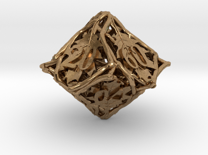 Botanical Decader d10 (Oak) 3d printed