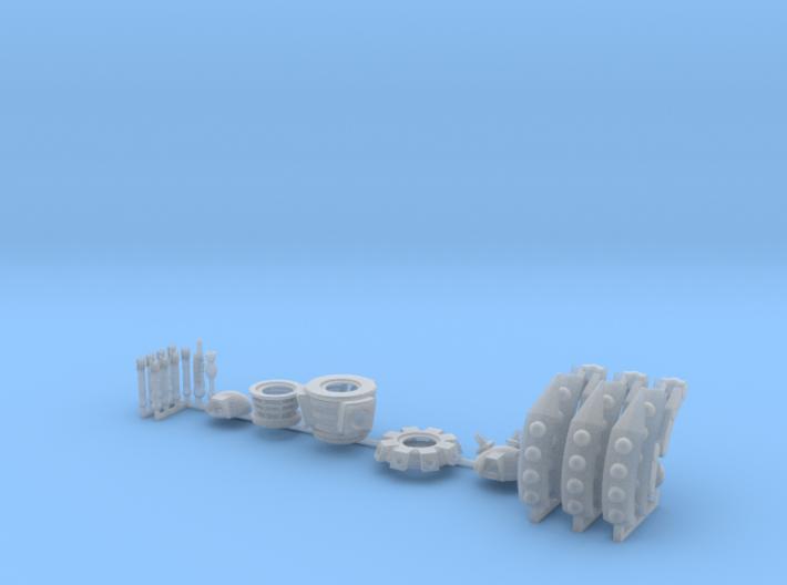 Dalek Strider Sprue 016c 3d printed