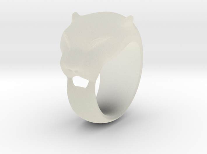 Panther ring 200% 3d printed