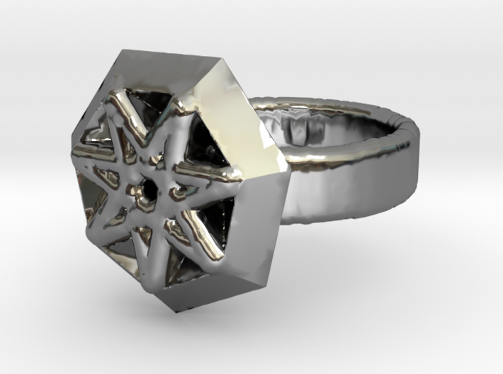 Magnificent Esboo ring 3d printed